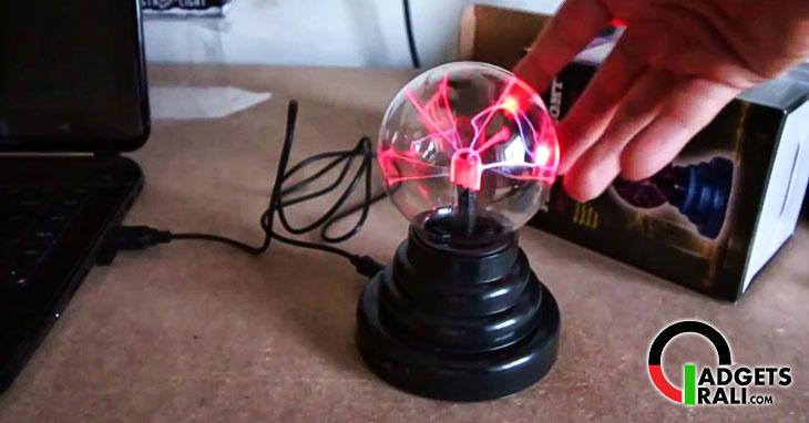 Palla lampada sfera al plasma alimentata USB
