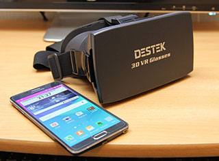 Destek 3d virtual reality realtà aumentata 3d smartphone iphone