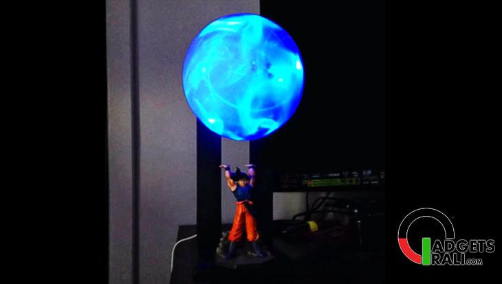 La lampada di goku che crea l'energia sferica