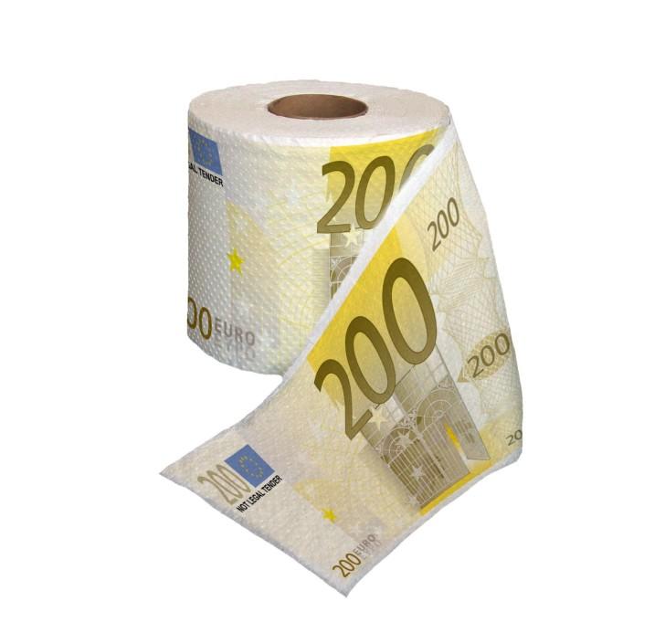 Carta igenica a forma di banconota euro