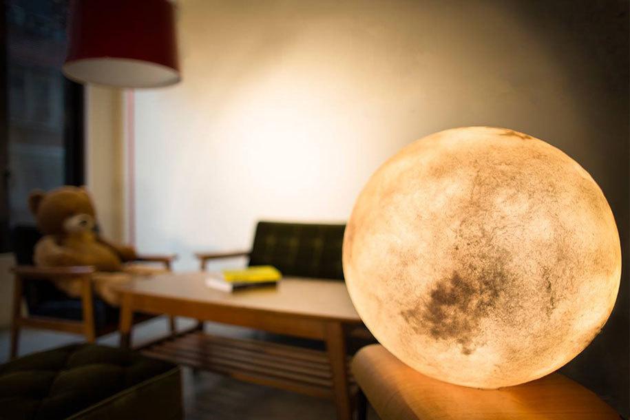lampada luna comodino