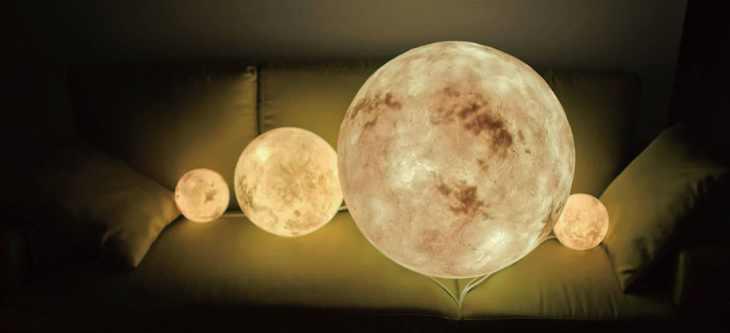 lampada luna dimensioni