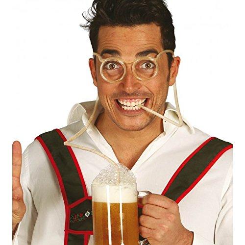 Occhiali con connuccia per bere birra
