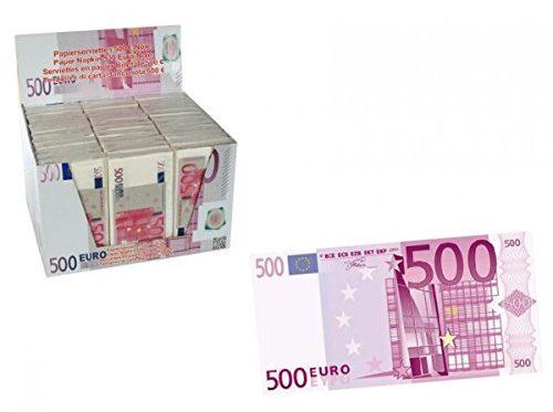 Fazzoletti a forma di banconote euro da 500