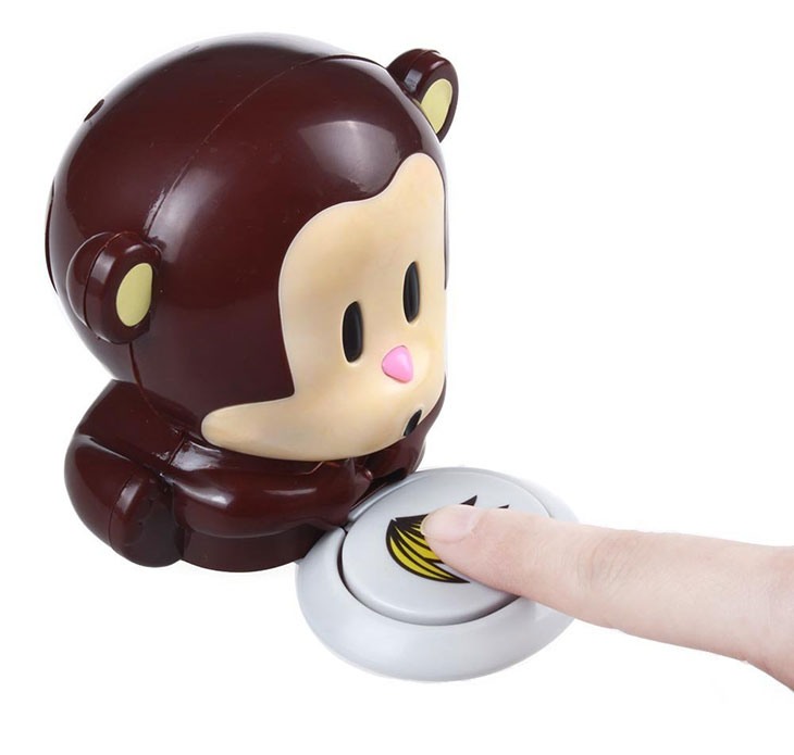 asciuga smalto unghie simpatico a forma di scimmia