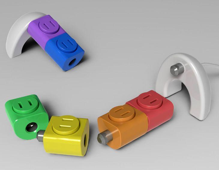 raddoppiatore di prese elettriche colorato