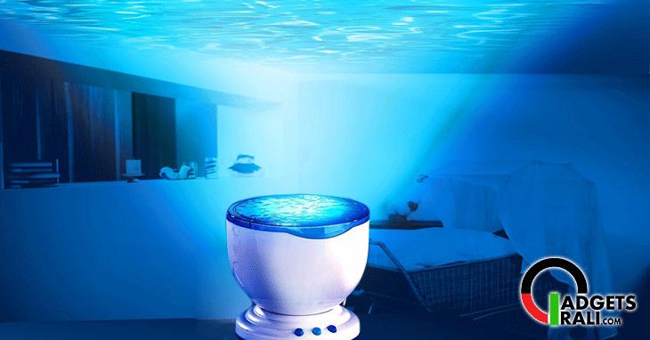 lampada proiettore con effetto acqua onde del mare