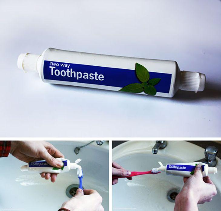 dentifricio doppio uscita