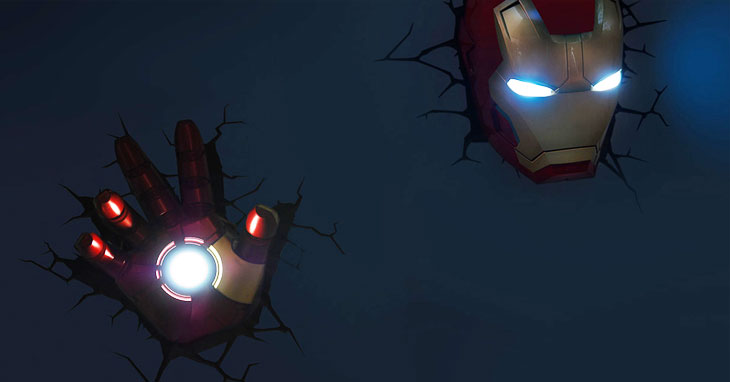 Iron Man lampada a muro