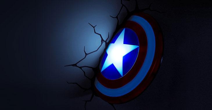 capitan america disco lampada