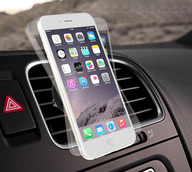 supporto magnetico universale auto smartphone iphone samsung