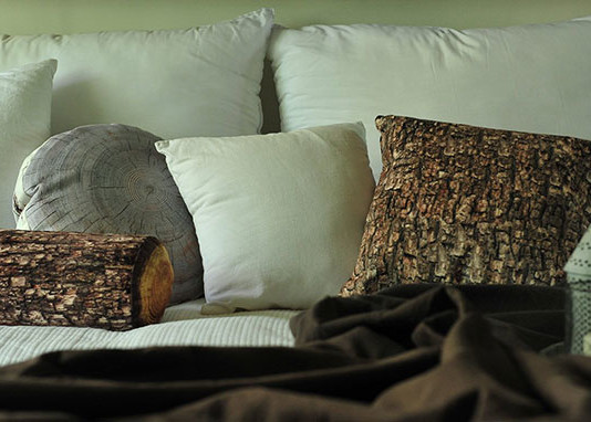 cuscino a forma di tronco d albero