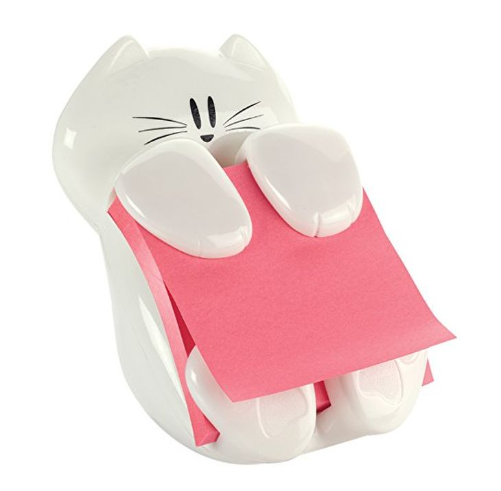 dispenser porta post-it gatto