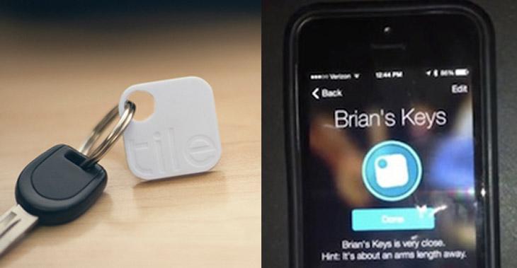 tile mini localizzatore gps portachiavi smartphone
