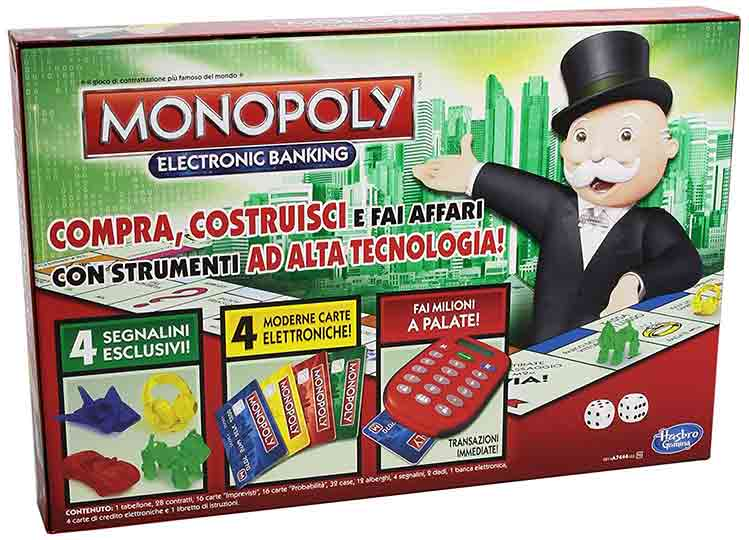 giochi da tavolo monopoly electronic backing