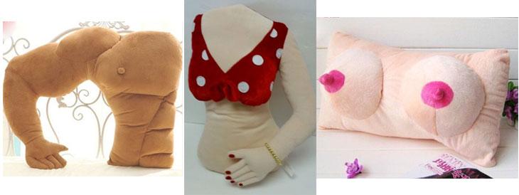 cuscini originali a forma di uomo o donna