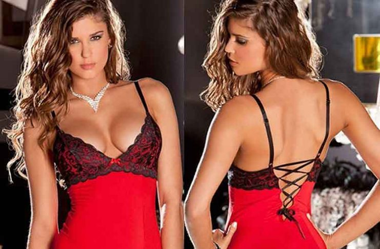 intimo hot rosso