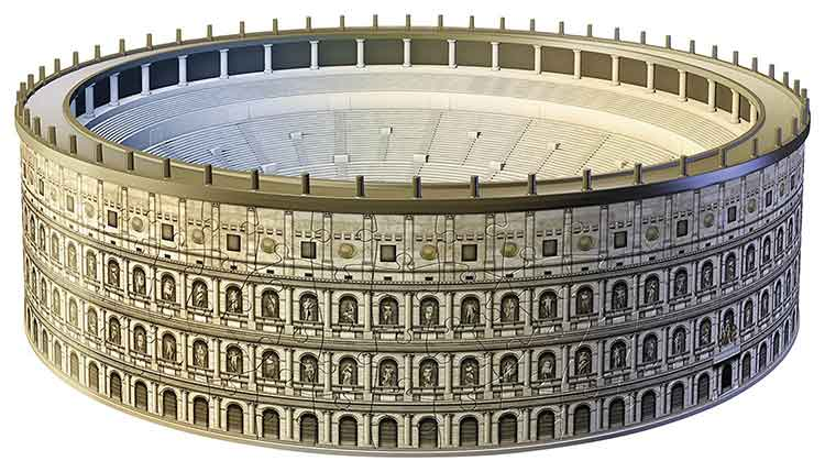puzzle 3D colosseo