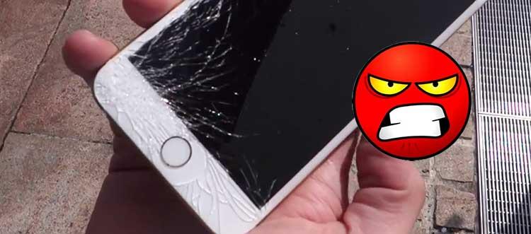 schermo rotto iphone