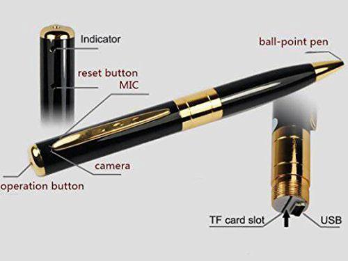 spy pen con telecamera