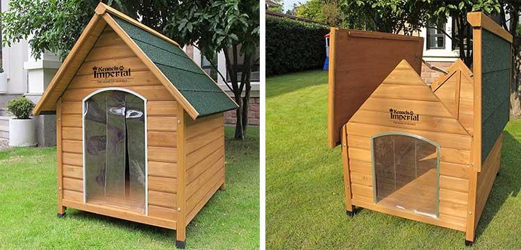 cucce per cani con tetto spiovente