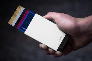 porta carte di credito alluminio